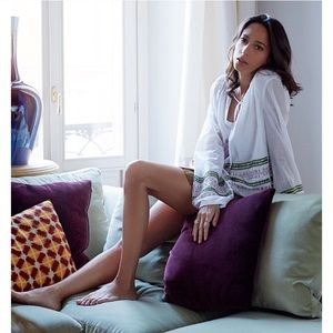 Tory Burch Madeline Sequin Trim Peasant Tunic NWOT